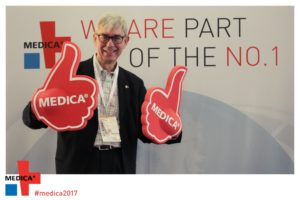 The annual Medica conference in Düsseldorf, Germany is the largest MedTech conference in the world.